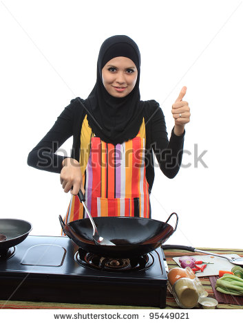 Stock-photo-beautiful-young-asian-muslim-woman-cooking-and-show-good-symbol-while-looking-to-the-camera-in-the-95449021